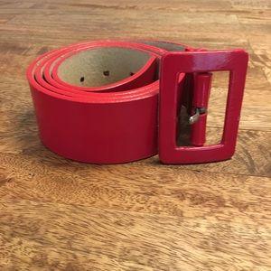 Red Leather Nine West belt